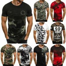 T-shirts coton avec des motifs Camouflage pour homme