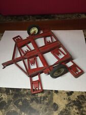 Vintage ERTL Red Diecast Plow Tractor Pull Behind Farm Equipment