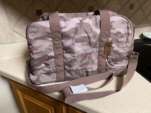 Victorias Secret Pink Duffel Gym Tote Bag Brown Camo Camouflage