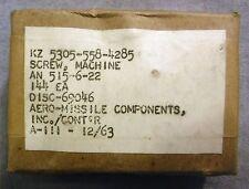 Vintage NIB (144) Machine Screws AN 515-6-22 Military Aero-Missile Navy 1963