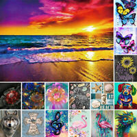 DIY Diamond Painting Animal Flower Decor 5D Embroidery Cross Stitch Art Xmas US