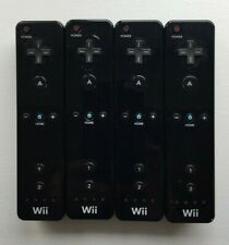 Lot of 4 Nintendo Wii Remote Black Controllers Official Tested Working RVL-003