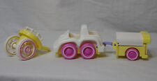 SMOOSHEES CAR & TRAILER * Fisher Price * 1987 - Vintage - Baby Buggy