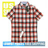 Tommy Hilfiger Men's NWT Red WB Checker 1 SLIM Fit Button D Sh Sl Shirt XL