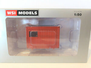 """WSI 04-1009 - 10FT BALLAST CONTAINER RED - 1:50 - TRAILER LOAD - """"NEW"""""""