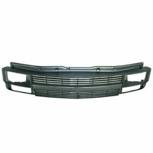 Front Grille With Sealed Beam Headlamp Argent fits 1995 2005 Chevrolet Astro