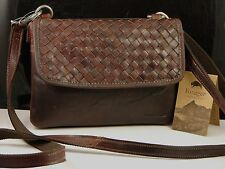 d874798a3318 Jack Georges Voyager Woven Collection Wallet On String Leather Shoulder Bag  NWT