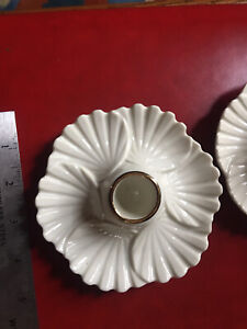 Vintage Pair of Lenox   Candle Holders petal /clam shell ? Japan