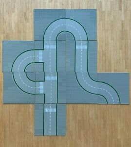LEGO Straßenplatten - 10 Stück grau