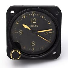 Vintage Waltham WII Military Aircraft 8 Day Clock A-11 9 Jewel