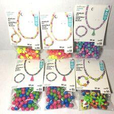 Kids Jewelry Kit Beads Bracelet Necklace Diy Crafts by Creatology Lot of 6 Assor