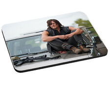 Daryl Dixon Mouse Mat, TWD, Walking Dead, Pad 220mm x 180mm, 5mm Thick