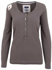 L' ARGENTINA Damen Sweatshirt Shirt Langarm Größe M 38 Baumwolle & Elasthan Grau