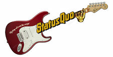"STATUS QUO GUITAR DIGITALLY CUT OUT VINYL STICKER. 12"" X 4"" OVERALL SIZE."