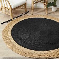 7 Feet Natural Indian Braided Jute Round Floor Rug Yoga Mat Home Living Rug Mat