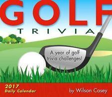 Golf Trivia 2017 Desk Box Calendar by Wilson Casey