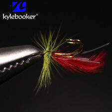 12Pcs Fly Fishing Various Flies Fishing Baits Two Hooks Feather Wet Flies