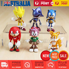 6x Sonic the Hedgehog Action Figure Kid Figurines Display Toy Cake Topper Decor