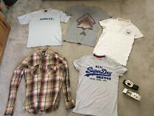 Mens Small Clothes Bundle 7 Items Superdry Hollister