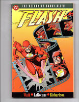THE FLASH RETURN OF BARRY ALLEN TPB FIRST EDITION VF+ DC JUSTICE LEAGUE THE CW
