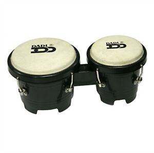 """Mini Bongo Drums Black Dadi 4½"""" & 5"""" Natural Skins Bongos Kids Girls Toy Gift"""
