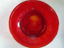 Vintage Ruby Red Pressed Glass Childs Alphabet Clays Crystal Works Plate