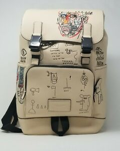 Coach X Jean Michel Basquiat Pebble Leather Track Backpack C5427
