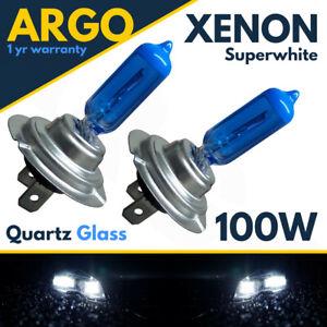 H7 Xenon White Headlight Bulbs 100w Super Quartz Headlamp Light HID Bright 12v