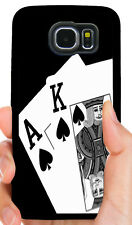 WSOP ACE KING SPADES POKER PHONE CASE FOR SAMSUNG NOTE GALAXY S4 S5 S6 S7 S8 S9