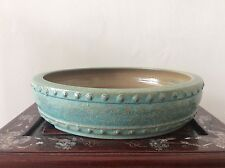 Japanese Vintage Bonsai Pot signed 立花  / W 32 × 32 × H 7.5[cm]  2600 g