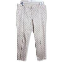 MICHAEL Michael Kors Khaki & White Cropped Pants Sz 10