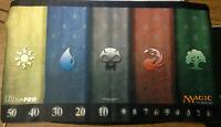 ORIGINAL 2010 v1 5 Mana Symbols Playmat Ultra Pro Life Counter MTG Magic