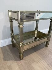 Mirrored Neiman Marcus Bar Cart Serving Table