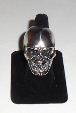 SKULL RING Biker Metal Punk Rock HUGE Stainless Steel Size 12 NEW