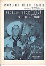 "Moonlight On The Prairie Sheet Music ""Moonlight On The Prairie"" Dick Foran"