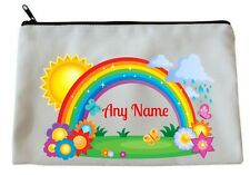 Personalised RAINBOW Accessory/Pencil Case/Make Up Bag