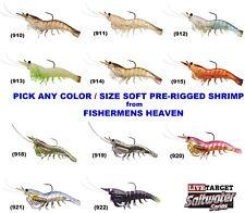 Live Target Shrimp Pre Rigged Soft Plastics Lure Any SSF75SK SSF100SK 4pk Lures