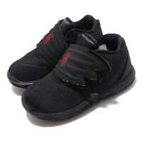 Nike Kyrie 5 TD Irving V Black Red Toddler Infant Baby Slip On Shoes AQ2459-016