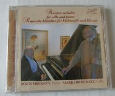 BORIS MERSSON MARK DROBINSKY  (CD) RUSSIAN MELODIES FOR CELLO AND PIANO - NEUF