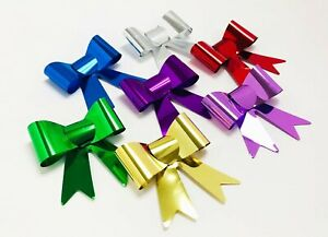 100PC Multicolor Metallic Self Adhesive Bow Ties - Special Occasion Gift Bow