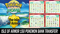 Pokemon Home Sword and Shield Isle of Armor Pokebank Transfer 150 Pokemon!!