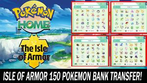 Pokemon Home Sword and Shield Isle of Armor Pokebank Transfer 150 Pokemon!!