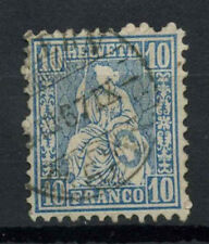 Switzerland 1862-4 SG#55, 10c Blue Used #A69551