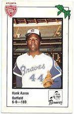 ⚾️ 1981 ~ Braves Police #44 ~ Hank Aaron ~ Atlanta Braves ~ Vg=3 ~ QTY