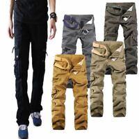 Cool Mens Military Cotton Cargo Pants Combat Army Outdoor Pocket Winter Trousers