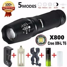 5000 Lumen G700 LED Zoom Flashlight X800 Military Lumitact Torch Battery Charger