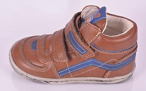 Primigi Allen Infant Boys Dark Tan Leather Shoes UK 3 EU 19 US 3.5