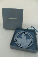 Wedgwood Blue Jasper Shepherd Ornament - Mib