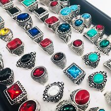 20pcs mens womens fashion jewelry rings vintage stone Ring party Gifts