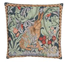 William morris le lièvre tapisserie coussin - 34cm x 34cm face à gauche